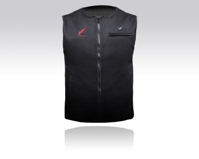 Warmthru Carbon Fibre Heated Vest: Push Button Technology