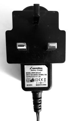 Warmthru 7.4V Two Jack Charger: UK, EU, or USA